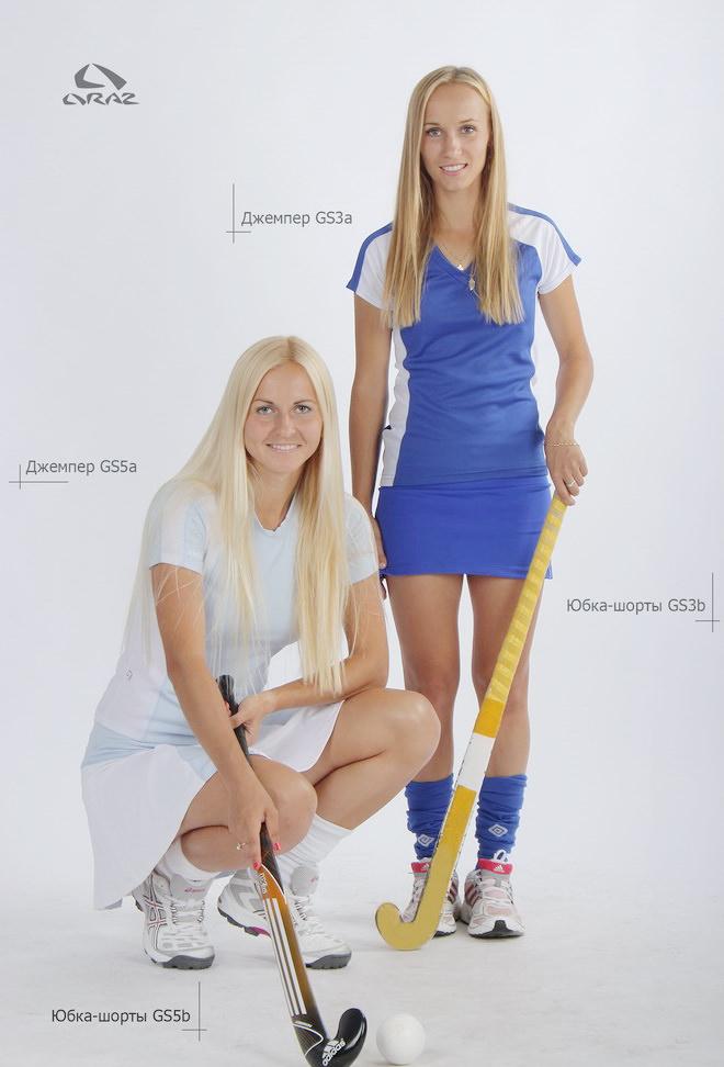 Игровой комплект одежды для волейбола или хоккея на траве. Форма игровая для волейбола или хоккея на траве на заказ по индивидуальному проекту, по эскизу заказчика. Майка (джемпер), юбка-шорты, гетры для волейбола или хоккея на траве на заказ недорого в Минске.