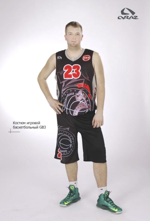 Игровой комплект одежды для баскетболистов. Форма игровая баскетбольная на заказ по индивидуальному проекту, по эскизу заказчика. Майка, шорты для баскетболистов на заказ недорого в Минске.