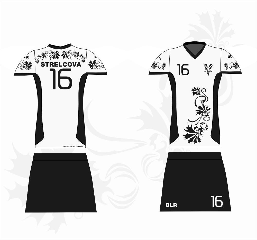 """чёрно-белая игровая форма хоккейного клуба """"виктория"""", хоккей на траве"""